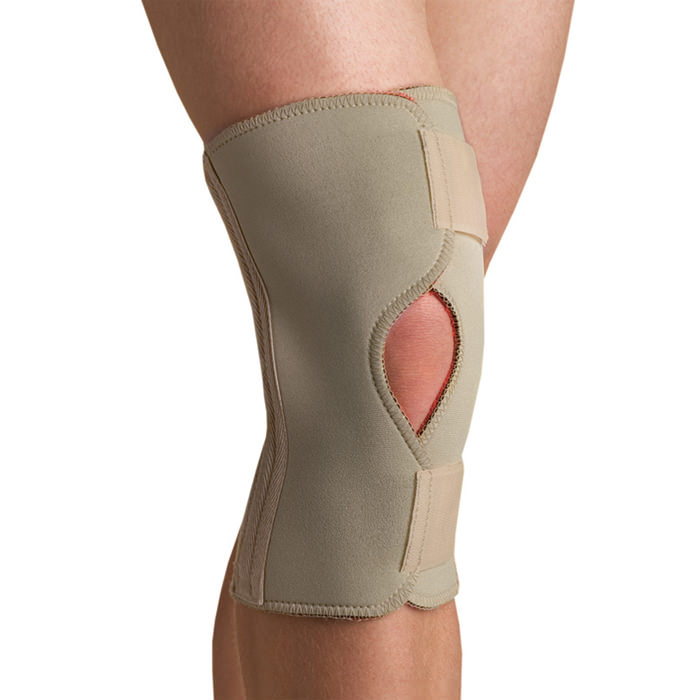 Thermoskin Open Knee Wrap Stabilizer, Beige, Extra Small