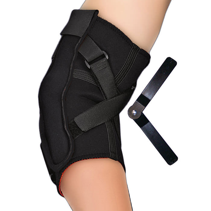 Thermoskin Hinged Elbow, Black, Large