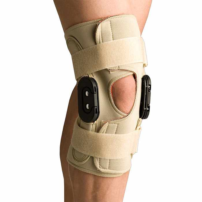 Thermoskin Hinged Knee Wrap Flexion/Extension, Beige, Large