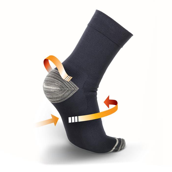Thermoskin FXT Compression Socks, Crew, Black, Large