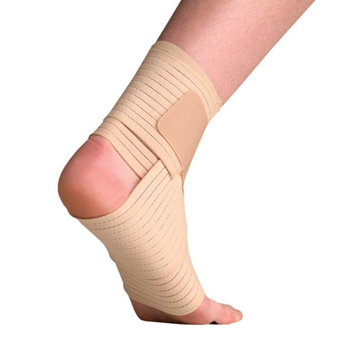 Thermoskin Elastic Ankle Wrap, Beige, Large/Extra-Large