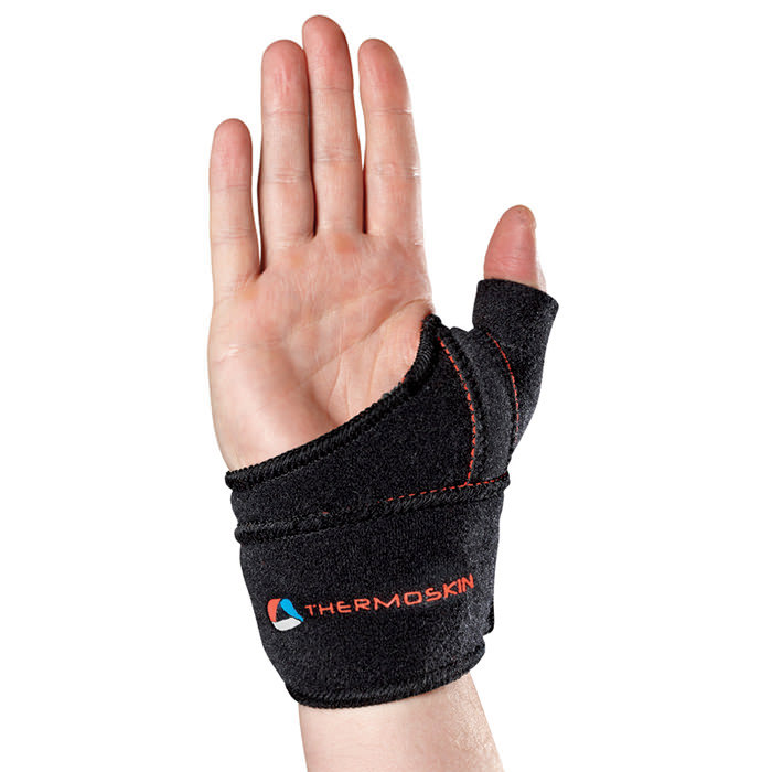 Thermoskin Sports Thumb Adjustable, Left, Black, Large/Extra-Large