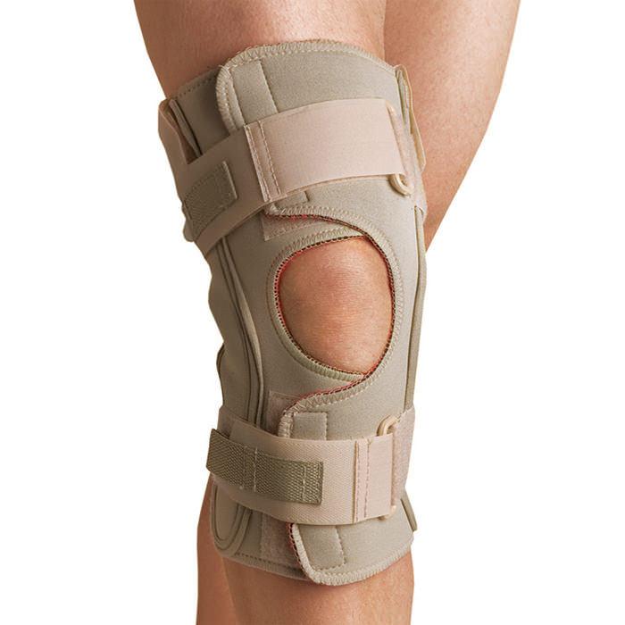 Thermoskin Hinged Knee Wrap Single Pivot, Beige, 2X-Large