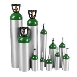 E Oxygen Cylinder with Post Valve
