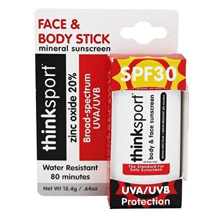 Thinksport Sunscreen Stick, SPF 30, 0.64 oz