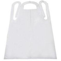 Tidi Products Embossed Poly General Purpose Apron White