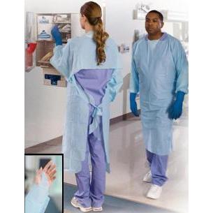 Tidi Shield Disposable NonSterile Over-the-Head Protective Procedure Gown Blue