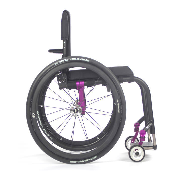 TiLite Aero Z wheelchair side view