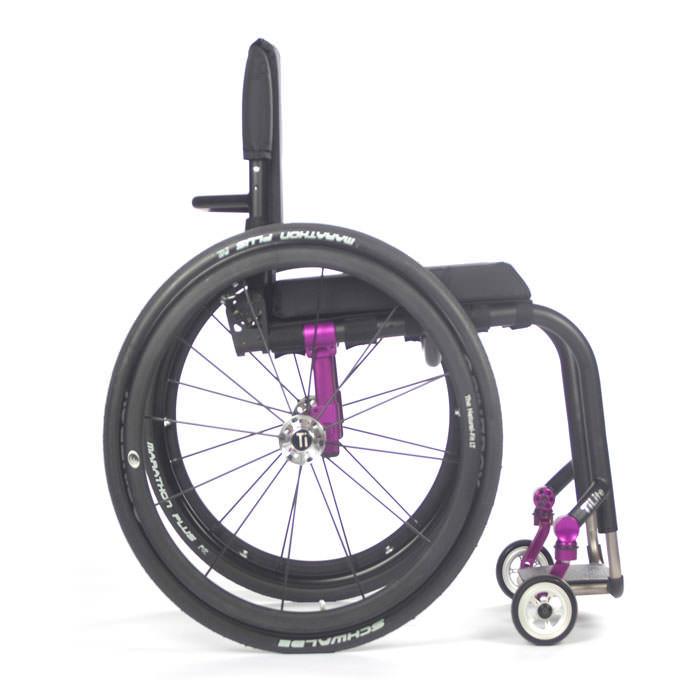 TiLite Aero Z wheelchair side view