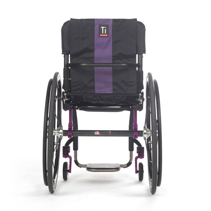 TiLite Aero Z wheelchair back view