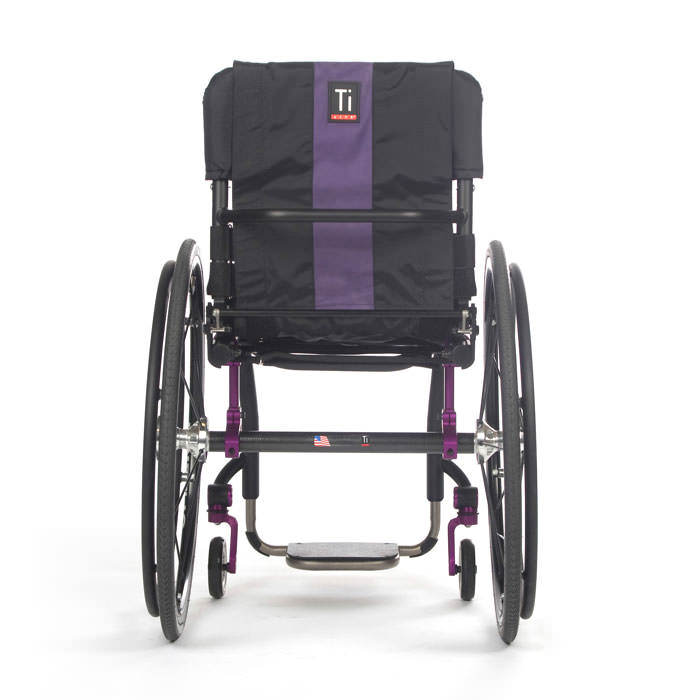 TiLite Aero Z wheelchair back view