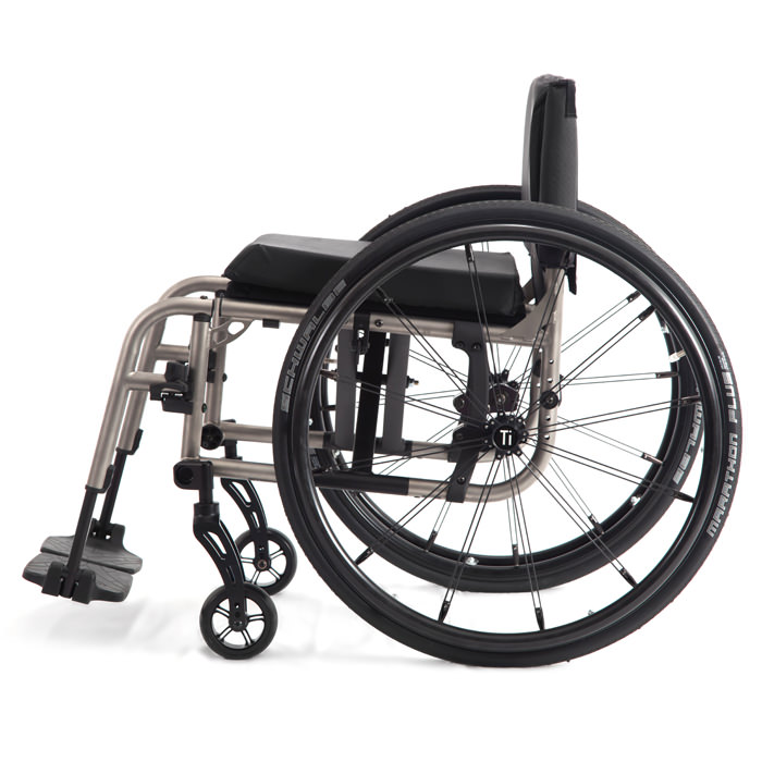 2GX folding ultralight wheelchair side view