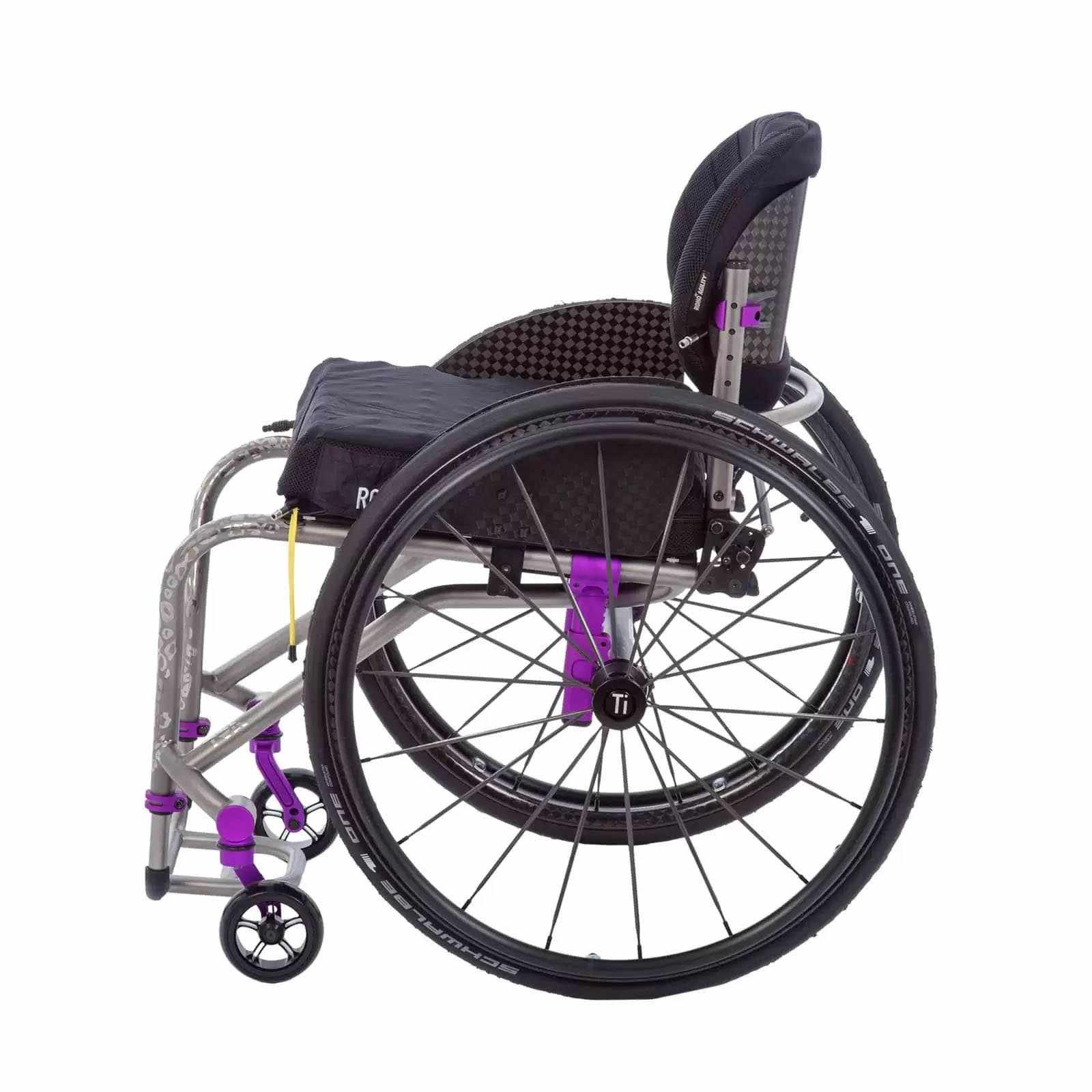 TiLite TRA wheelchair side view
