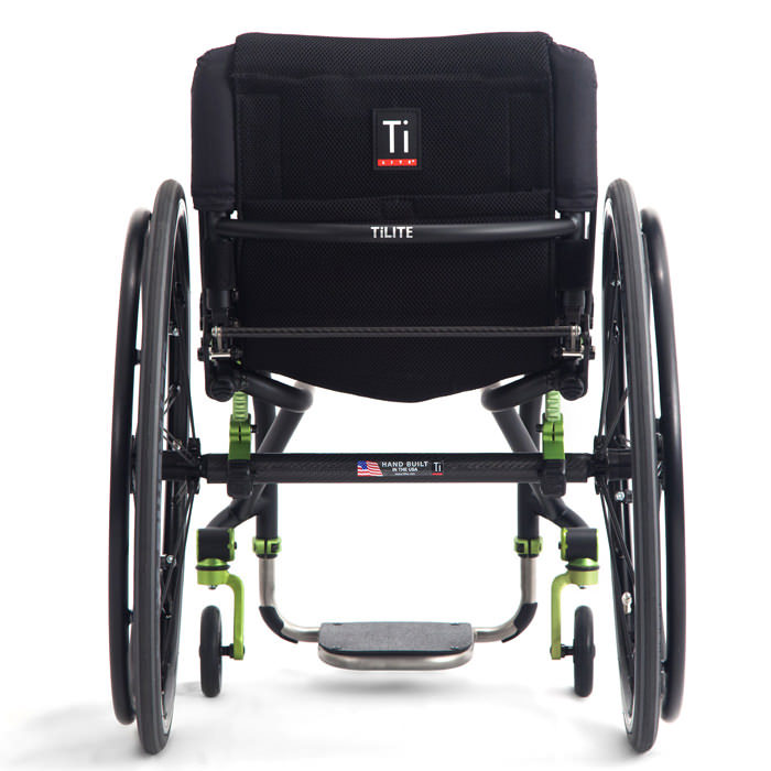 TiLite TRA wheelchair back view