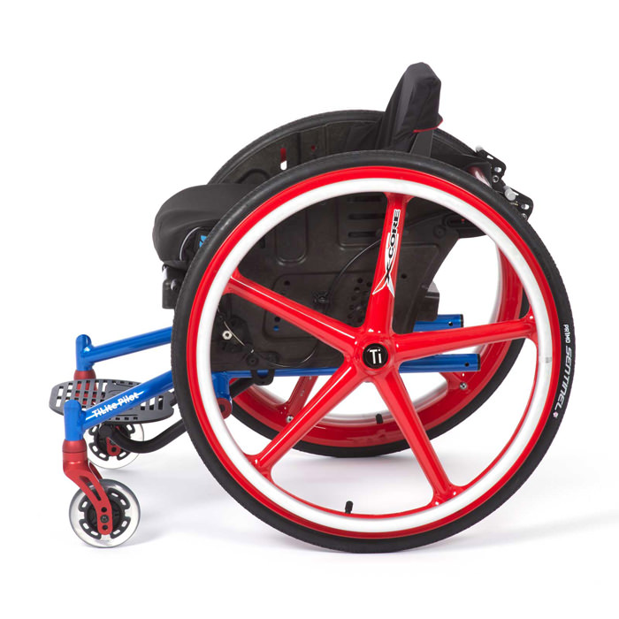 Pilot pediatric ultralight wheelchair