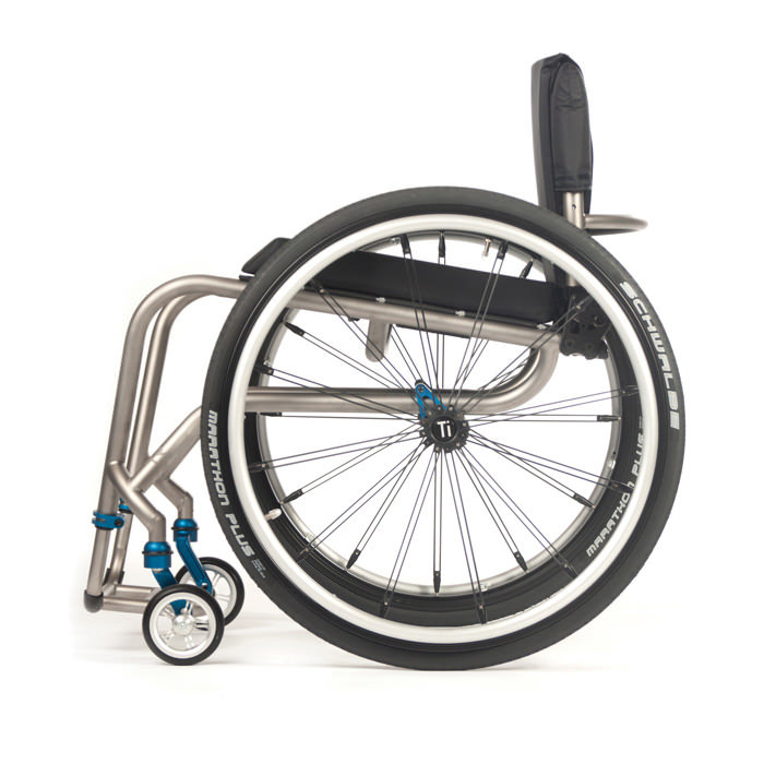 TiLite TR wheelchair side view