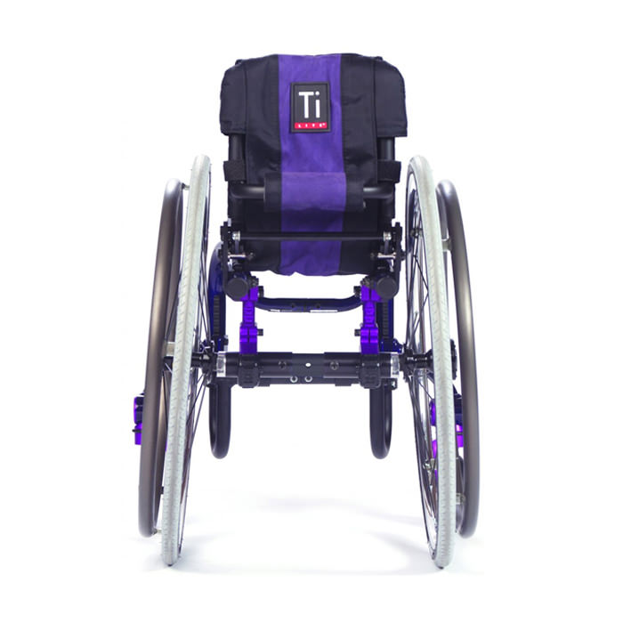 TiLite Twist pediatric wheelchair back view
