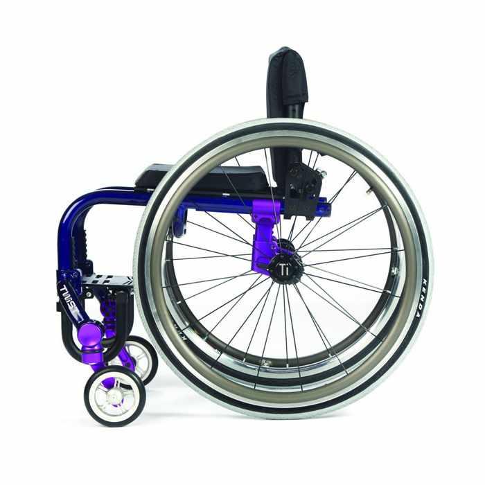 TiLite Twist wheelchair side view