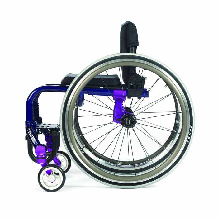 TiLite Twist wheelchair side view