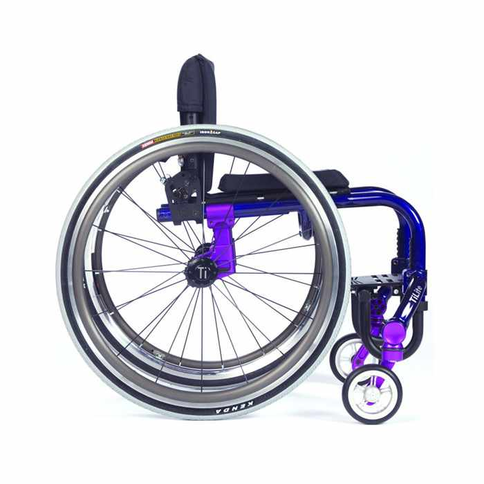 TiLite Twist pediatric wheelchair side view