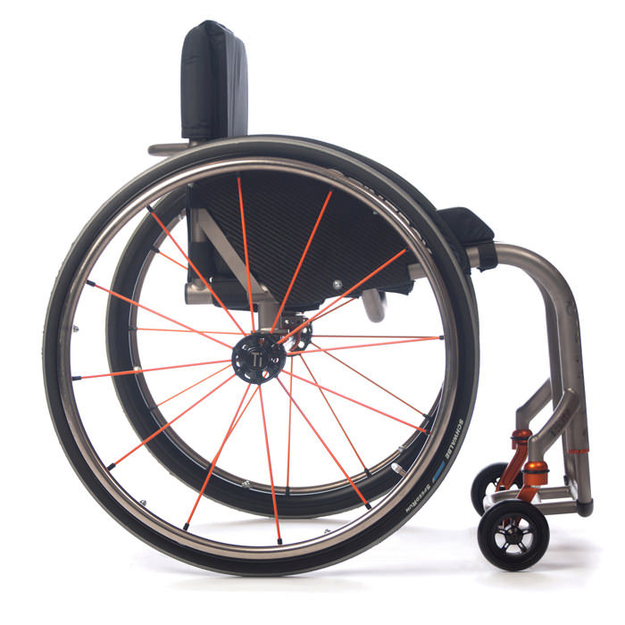 TiLite ZR wheelchair side view