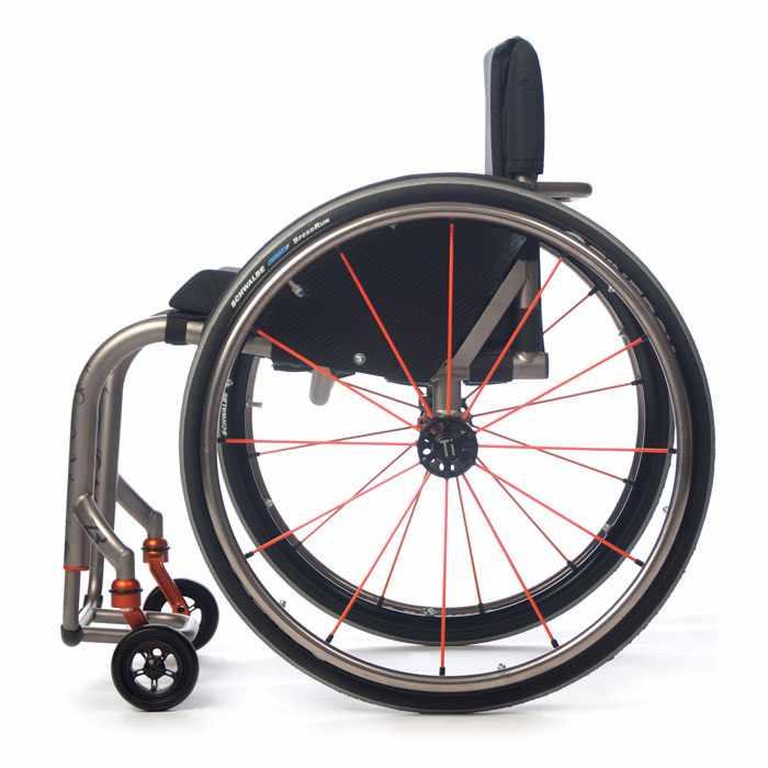 TiLite ZR rigid ultralight wheelchair side view