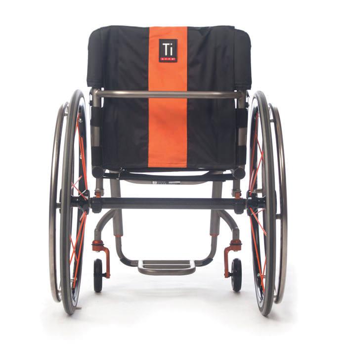 TiLite ZR wheelchair back view