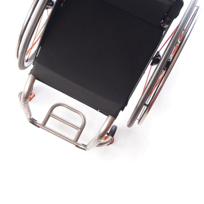 TiLite ZR rigid ultralight wheelchair view from top