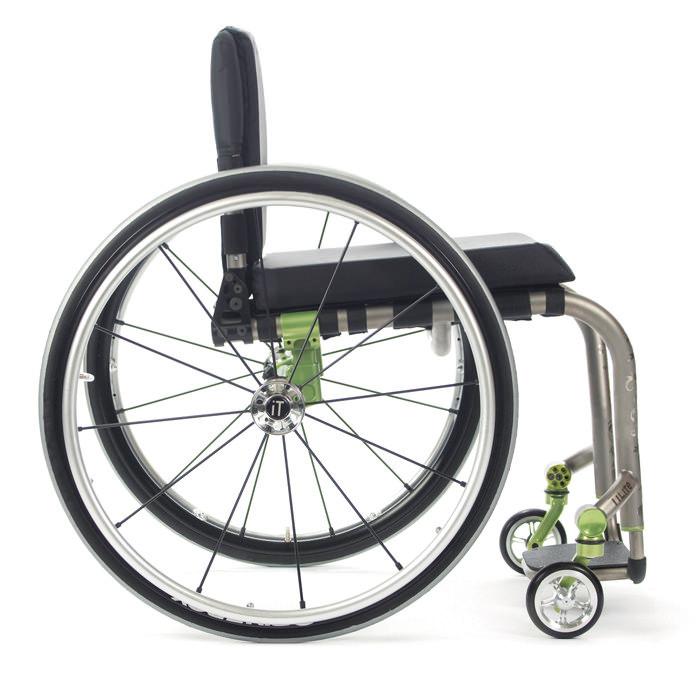 TiLite ZRA wheelchair side view