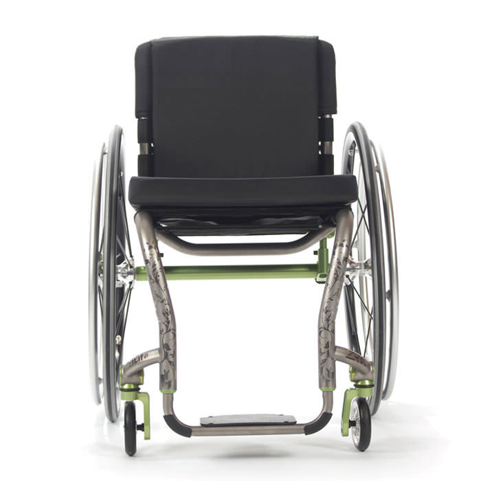TiLite ZRA rigid ultralight wheelchair front view