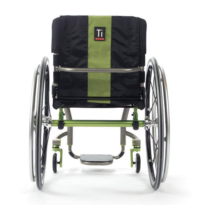 TiLite ZRA rigid ultralight wheelchair back view