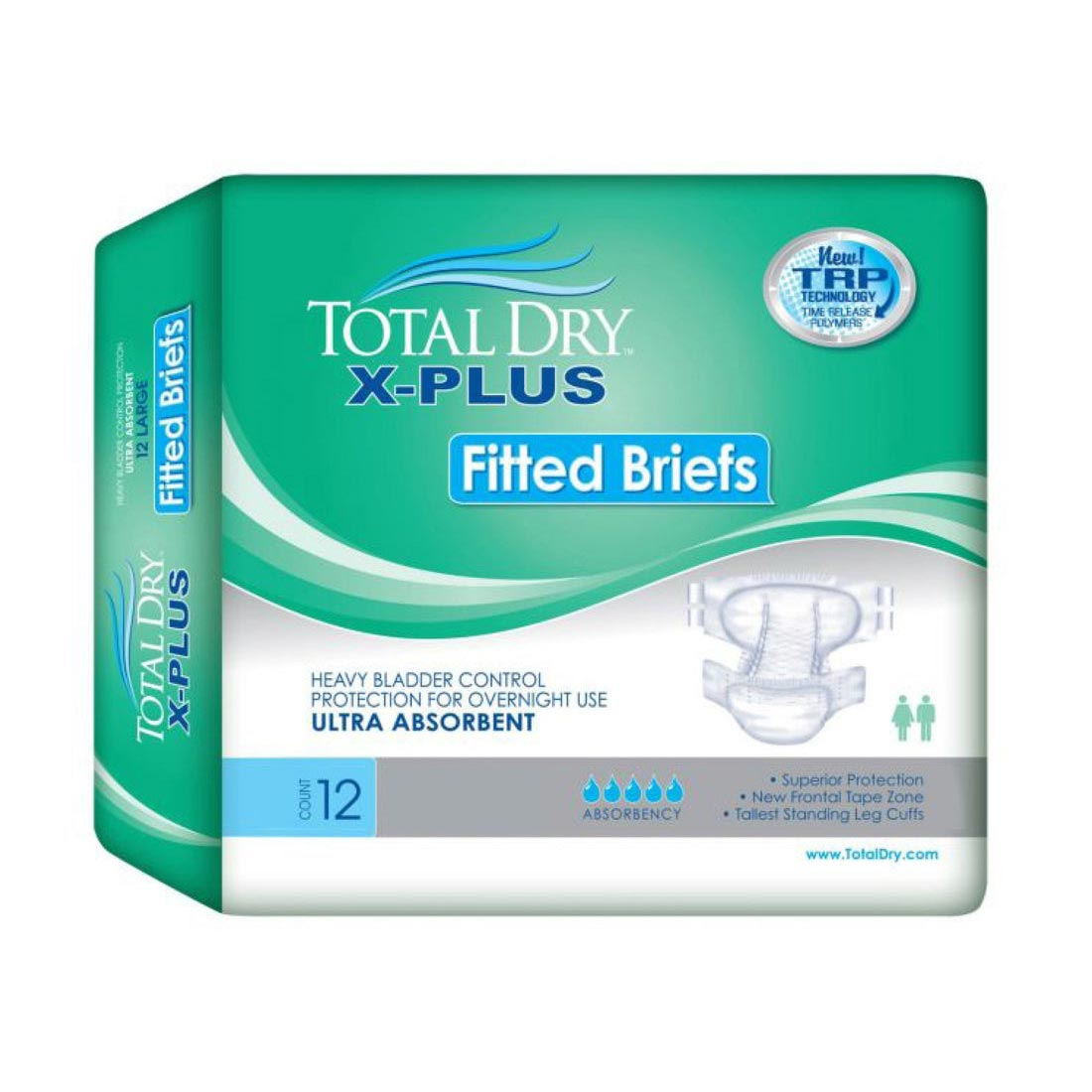 TotalDry X-Plus Fitted Briefs