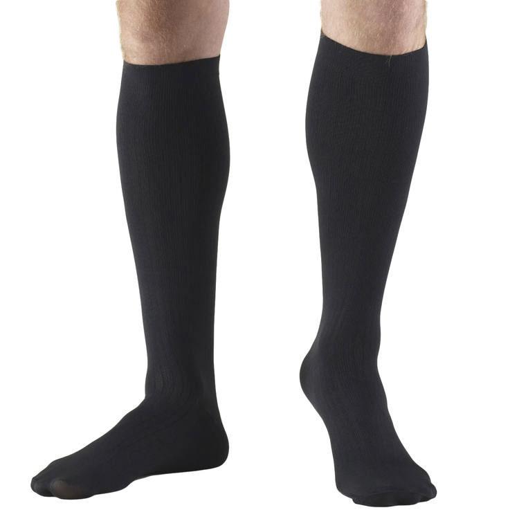 Truform Socks Mens Dress Style 30-40 mmhg, Black
