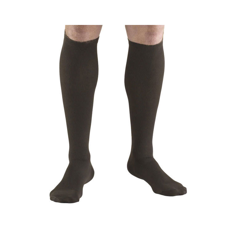 Truform Socks Mens Dress Style 30-40 mmhg, Brown