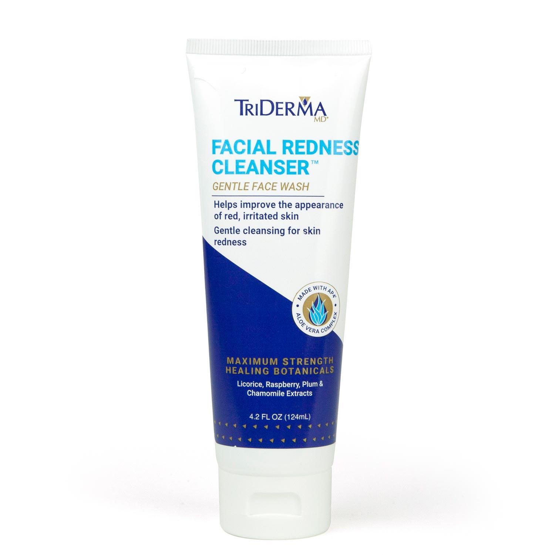 TriDerma Facial Redness Cleanser Gentle Face Wash for Sensitive Skin, 4.2 oz