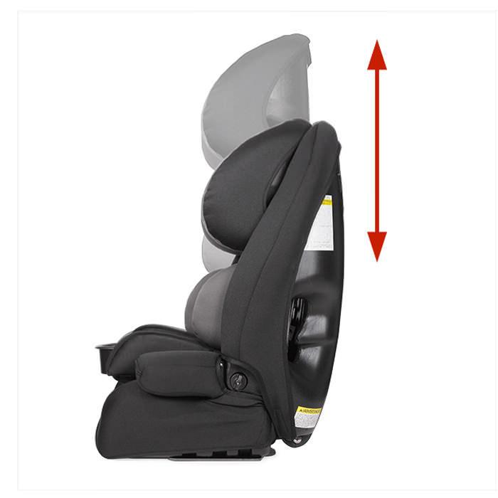 Defender Reha car seat - Height adjustable headrest