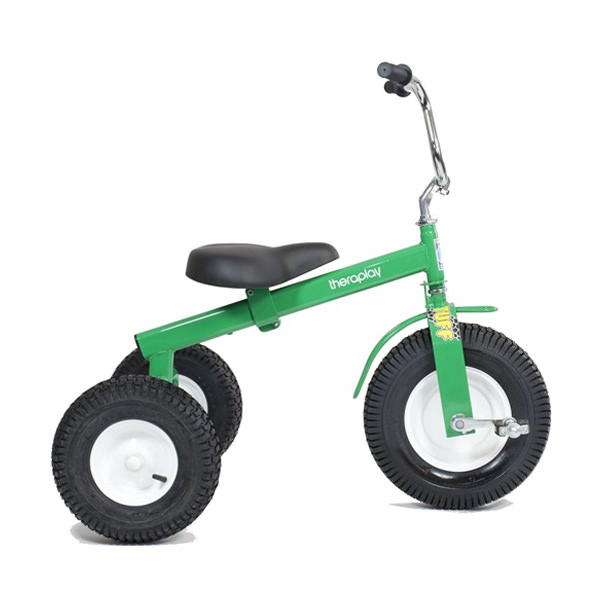Tuff tricycle green side view