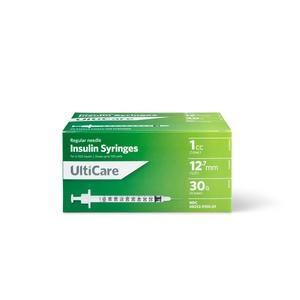 UltiCare Insulin Syringe, 30 Gauze x 1/2 Inch, 1 mL
