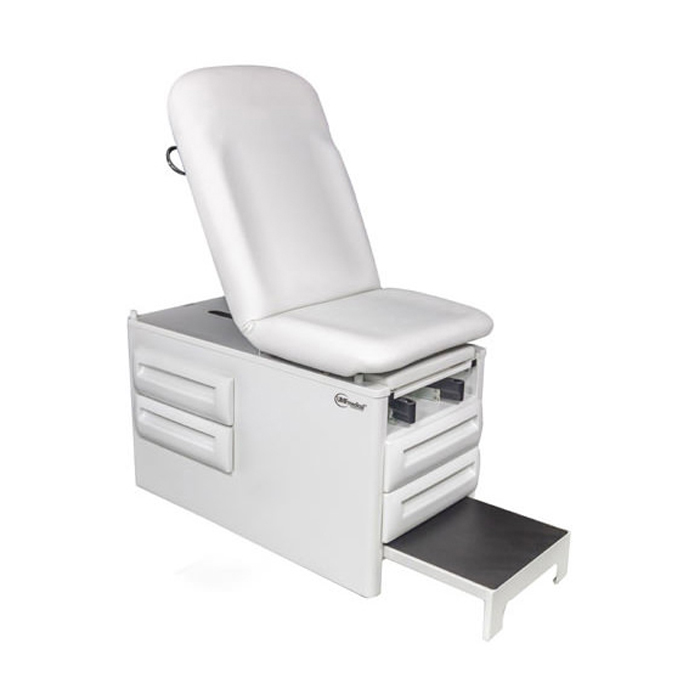 UMF 5240 manual exam table with four storage drawers