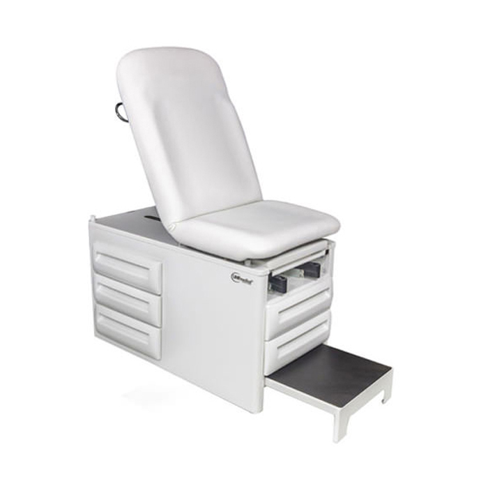 UMF 5250 manual exam table with five storage drawers