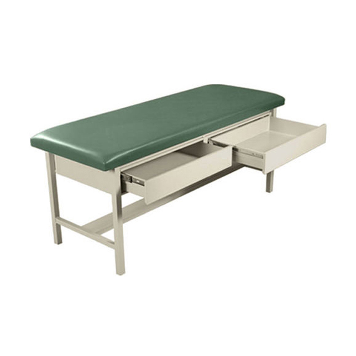 UMF 5585 H-brace treatment table with two drawers