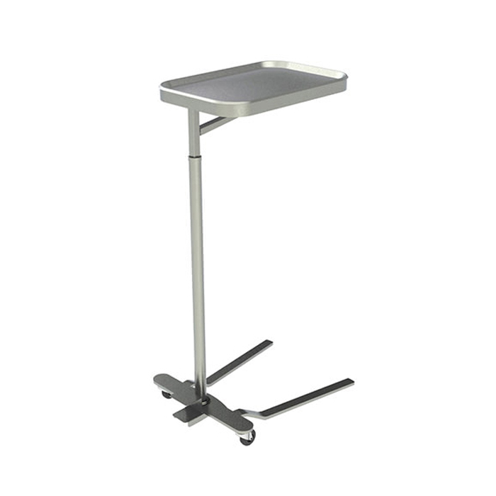 """UMF SS8311 mayo instrument stand with 16"""" X 21"""" stainless steel tray"""