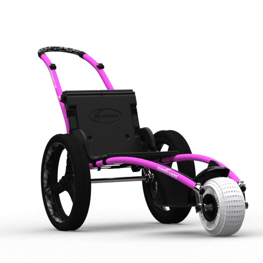 Hippocampe all-terrain beach wheelchair - Pink Color
