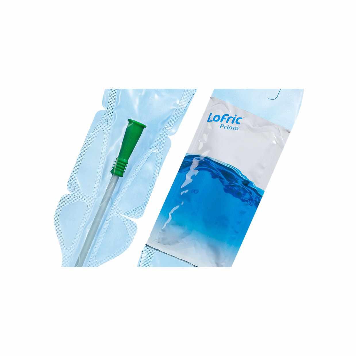 "Wellspect LoFric Primo Male Hydrophilic Intermittent Catheter, 14Fr 16"""