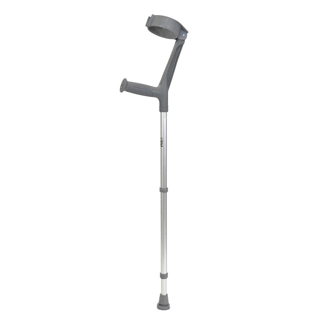 Walk Easy adult forearm brushed aluminum articulated crutches with 4