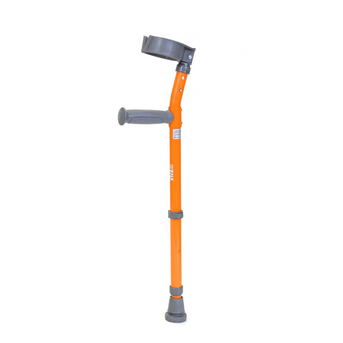 Walk Easy pediatric forearm height adjustable crutches with 3