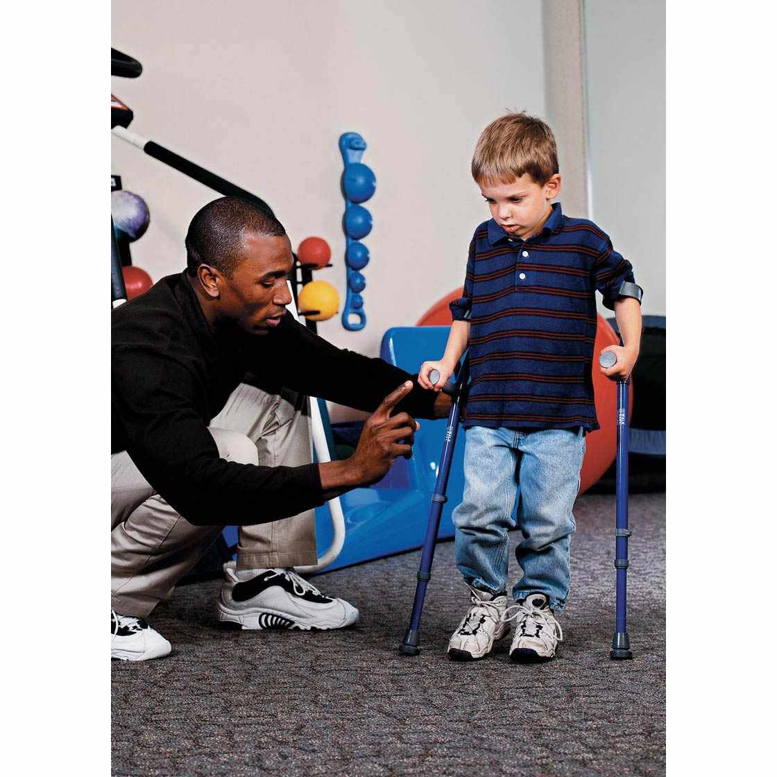 Walk Easy Pediatric Forearm Height Adjustable Crutches (Pair)