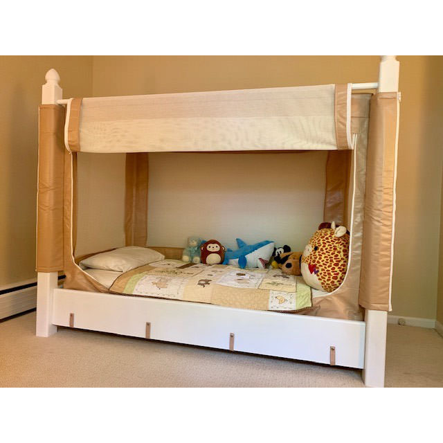 Noah's enclosed canopy bed