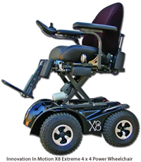 Innovation In Motion X8 Extreme 4 x 4 Power Wheelchair